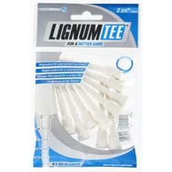 Lignum tees. Bolsa de 12 tees blancos de 72mm