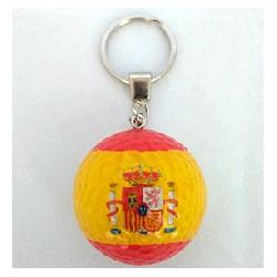 Llavero bola golf bandera de España