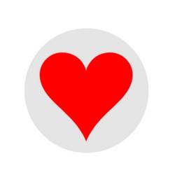Ball stamper - corazón