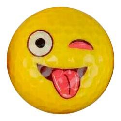 Bola de golf emoji - beso