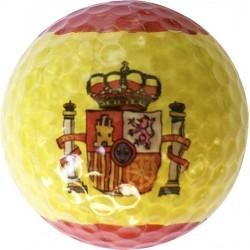 Bola de golf bandera de España
