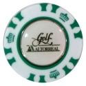 Ficha de casino con marcador extraible